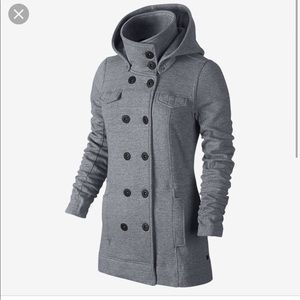 Hurley Gray Relaxed Fleece Jacket